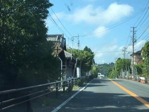 国道沿いの柵